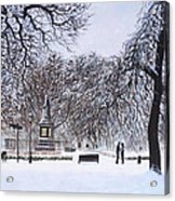 Southampton Watts Park In The Snow Acrylic Print by Martin Davey