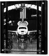 Space Shuttle Enterprise Acrylic Print by Chris Bhulai