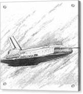 Space Shuttle Enterprise Acrylic Print by Michael Penny
