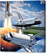 Space Shuttle Montage Acrylic Print by Stu Shepherd