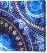 Space-time Mesh Acrylic Print by Martin Capek