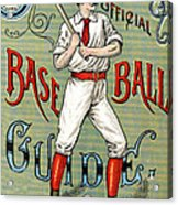 Spalding Baseball Ad 1189 Acrylic Print by Unknown
