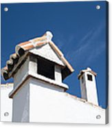 Spanish Rooftops Acrylic Print by Anne Gilbert