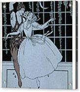 Spectre De La Rose Acrylic Print by Georges Barbier