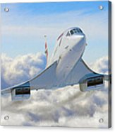 Speeding Above The Clouds Acrylic Print by Dale Jackson