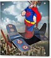 Speedolini Flying High Acrylic Print by Kathy Tarochione