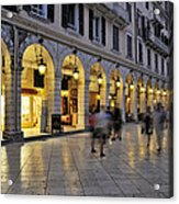 Spianada Square During Dusk Time Acrylic Print by George Atsametakis