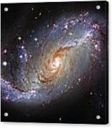 Spiral Galaxy Ngc 1672 Acrylic Print by The  Vault - Jennifer Rondinelli Reilly