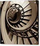 Spiral Staircase Acrylic Print by Sebastian Musial