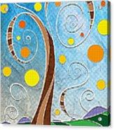 Spiralscape Acrylic Print by Shawna Rowe
