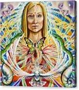 Spirit Portrait Acrylic Print by Morgan  Mandala Manley