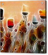 Spiritual Candles Acrylic Print by Music of the Heart
