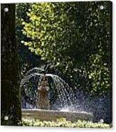 Splashing Water From Fountain Acrylic Print by Sami Sarkis