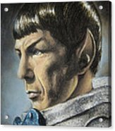 Spock - The Pain Of Loss Acrylic Print by Liz Molnar