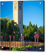 Spokane Clocktower Acrylic Print by Inge Johnsson