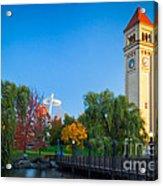 Spokane Fall Colors Acrylic Print by Inge Johnsson