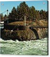 Spokane Falls - Spokane Washington Acrylic Print by Beve Brown-Clark Photography