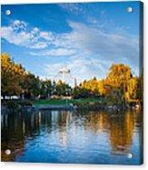 Spokane Reflections Acrylic Print by Inge Johnsson