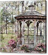 Spring Gazebo Painteffect Acrylic Print by Debbie Portwood