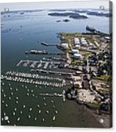 Spring Point, South Portland Acrylic Print by Dave Cleaveland