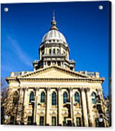 Springfield Illinois State Capitol Building Acrylic Print by Paul Velgos