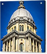Springfield Illinois State Capitol Dome Acrylic Print by Paul Velgos