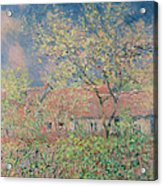 Springtime At Giverny Acrylic Print by Claude Monet