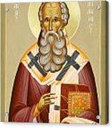 St Athanasios The Great Acrylic Print by Julia Bridget Hayes