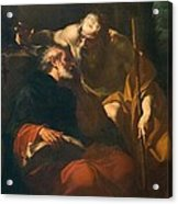St. Benedict And A Hermit Acrylic Print by Domenico Maria Viani