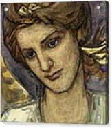 St Catherine Acrylic Print by Thomas Matthews Rooke