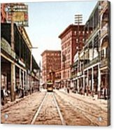 St Charles Street New Orleans 1900 Acrylic Print by Unknown