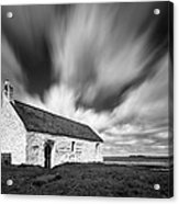 St Cwyfan's Church Acrylic Print by Dave Bowman