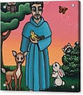St. Francis Animal Saint Acrylic Print by Victoria De Almeida