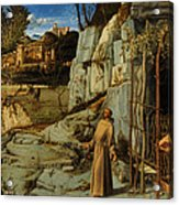 St Francis Of Assisi In The Desert Acrylic Print by Giovanni Bellini