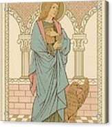 St John The Evangelist Acrylic Print by English School