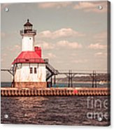 St. Joseph Lighthouse Vintage Picture  Photo Acrylic Print by Paul Velgos