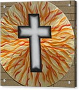 St. Josephs Cross Acrylic Print by Rick Roth