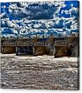 St Lucie Lock And Dam 3 Acrylic Print by Dan Dennison