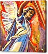 St. Michael Acrylic Print by Sheila Diemert