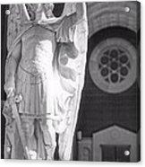 St. Michael The Archangel Acrylic Print by Brian Druggan
