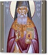 St Porphyrios The Kavsokalyvitis Acrylic Print by Julia Bridget Hayes