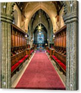 St Twrog Church Acrylic Print by Adrian Evans