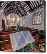 St Tysilios Bible Acrylic Print by Adrian Evans