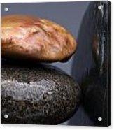 Stacked Stones 3 Acrylic Print by Steve Gadomski
