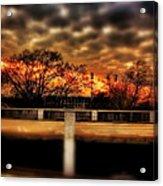 Stadium Sunset Acrylic Print by Jim Albritton