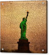 Stand Up For Freedom Acrylic Print by Bill Cannon