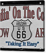 Standin' On A Corner In Winslow Arizona Acrylic Print by Christine Till