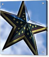 Star Acrylic Print by Annette Persinger