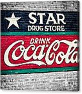 Star Drug Store Wall Sign Acrylic Print by Scott Pellegrin