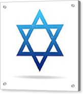 Star Of David Acrylic Print by Aged Pixel